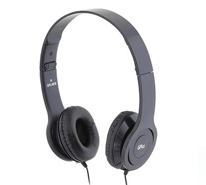 אוזניות ראש+מיקרופון מתקפל 3.5 שחור S