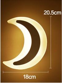 צמוד קיר ירח לד 10W