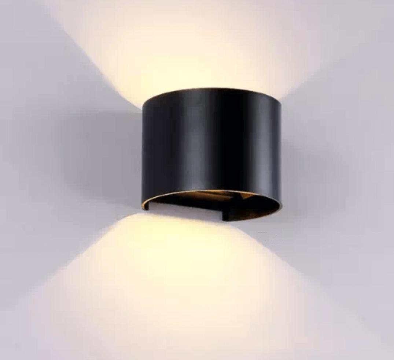 אפ דאון עגול עם תריס 6W שחור/לבן