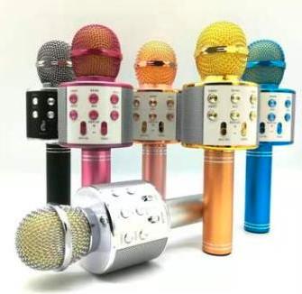 מיקרופון קריוקי לילדים אלחוטי משולב רמקול