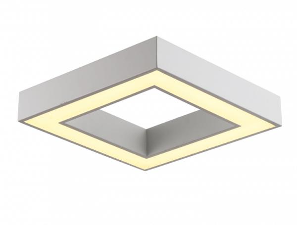 רינג מרובע 40W בסיס לבן 2 אפשרויות תלייה צמוד/תלוי