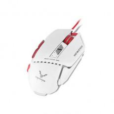 עכבר גיימינג מואר לבן+אדום