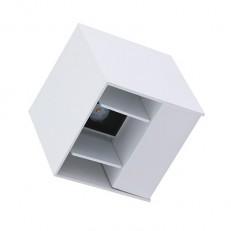 מנורת קיר אלבה WW 2X3W לבן IP54 U/D